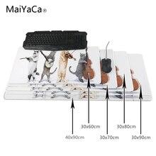 MaiYaCa Cat mouse pad Large Size mousepad laptop Legends mouse pad gear