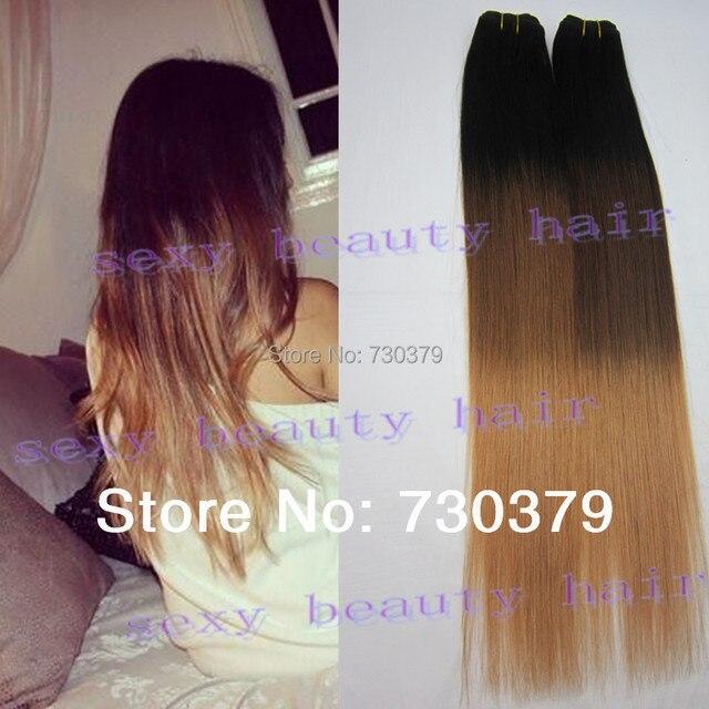 Ombre Hair Extensions 3 Three Tone1b427 Peruvian Virgin Remy Hair