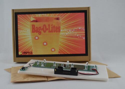 Tasche O Lites (rote farbe, mit Finger Licht) Zaubertricks Papiertüte Erscheinen Licht Magie Bühne Illusion Gimmick Requisiten Komödie Witz
