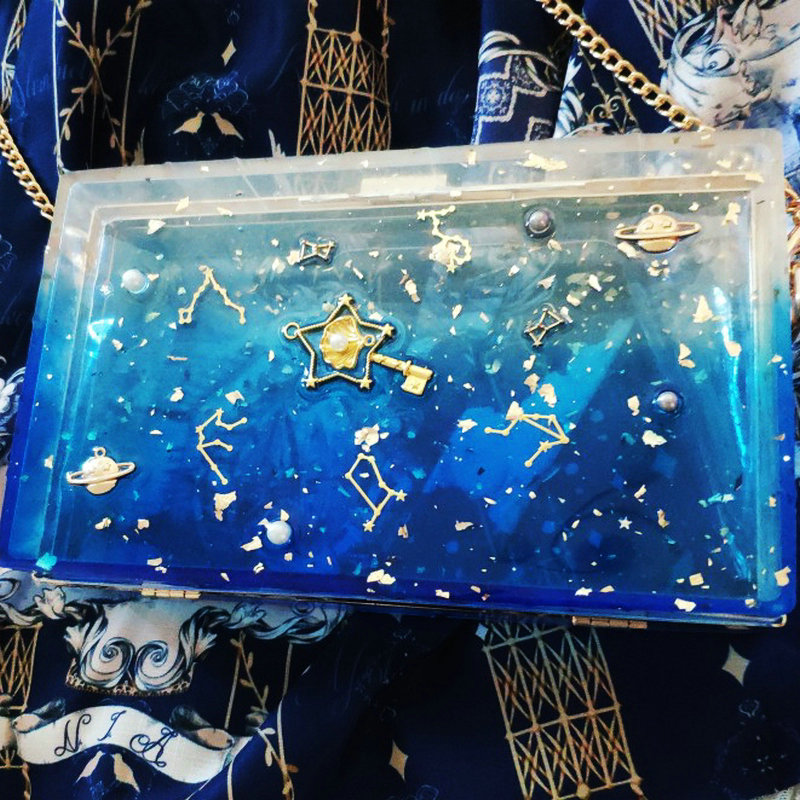 Résine Coeur Shaker Sac moule en silicone bricolage Effacer Embrayage Sac À Main Chat Moules Main Époxy Résine Artisanat sacs pour femmes Ronde outils modelage - 3