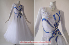 Ballroom Dance Dresses For Women White Color High Quality Profession Tango Modren Waltz Ballroom Competition Dress