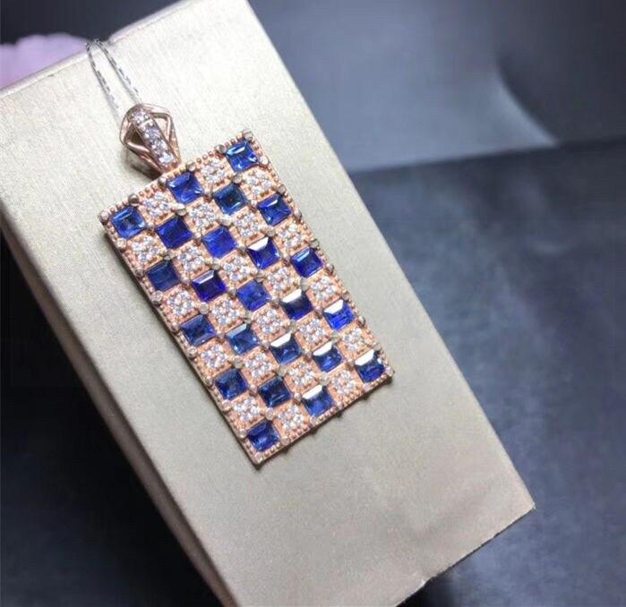 Orsa Juwelen Echtem 925 Sterling Frauen Anhänger Mit Original Niedlichen Hund Muster Blau Cz Schnauzer Halskette Silber Schmuck Sn115 Anhänger