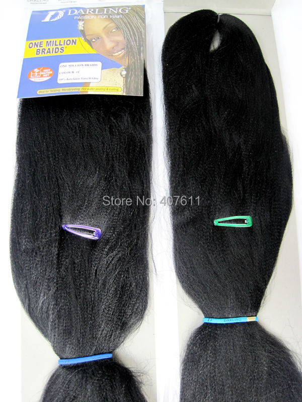 Darling Braids Synthetic Yaki Braid Hair Extension Hot Water Use