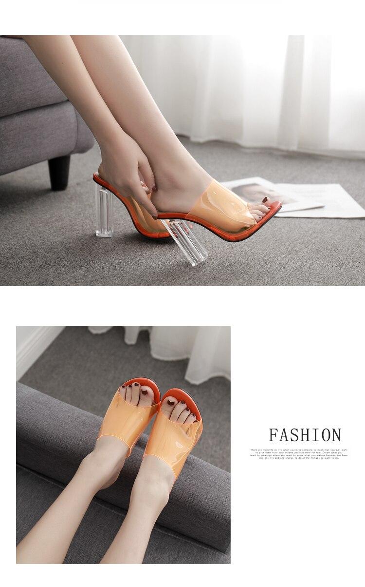 HTB12K ta2fsK1RjSszgq6yXzpXai Aneikeh New Women Sandals PVC Jelly Crystal Heel Transparent Women Sexy Clear High Heels Summer Sandals Pumps Shoes Size 41 42