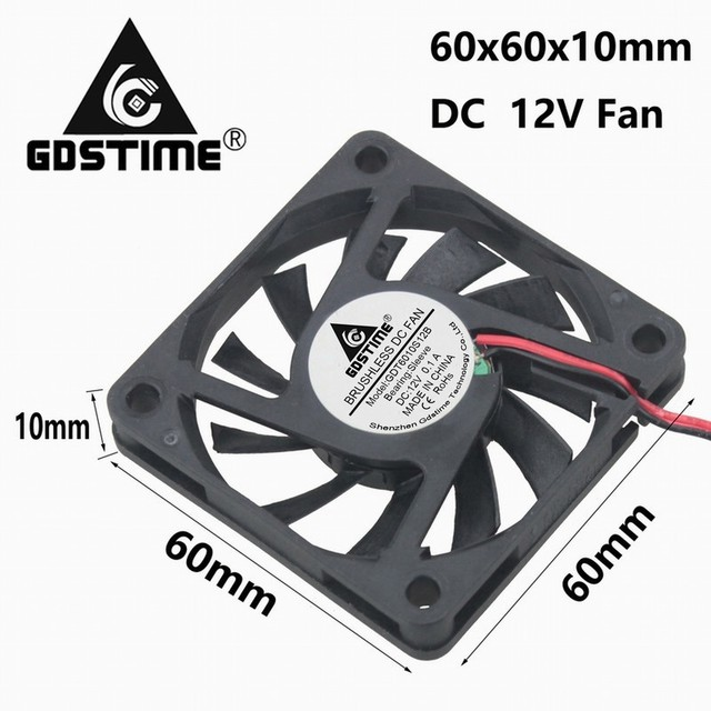 gdstime 2 pieces 6cm 60mm x 10mm dc brushless motor cooling fan 12v rh aliexpress com How Does a Brushless Motor On the Hook Up Wires Enternaly CBA Tamiya Brushless Motor Wiring