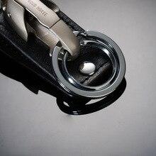 Stylish Snake Head Leather Keychain
