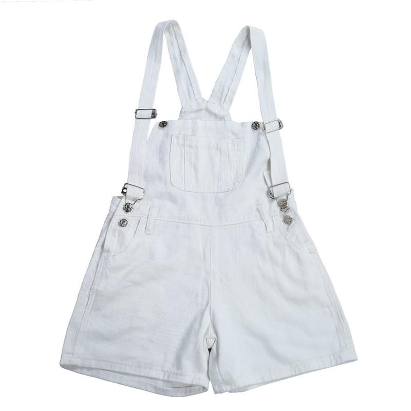 Girl High Waist Denim Shorts Women Suspender Trousers New Summer Lady Female Jumpsuit Loose Casual Short Jeans Feminino