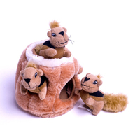 New Cute Doll Stuffed Toy Squirrel Sound Plush Toy Kawaii Squirrel Hide And Seek Plush Toy Gift Dolls Y005