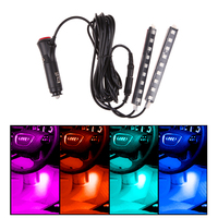 2 X 9 LED 2 In 1 Car Charger Interior Accessories Foot Car Decorative Car Light