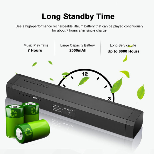 Image 4 - 10W TV Soundbar Bluetooth speaker FM Radio home theater system portable wireless subwoofer bass MP3 Music boombox-in Soundbar from Consumer Electronics
