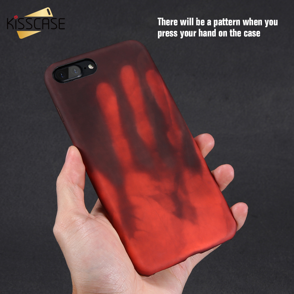 KISSCASE Cool Color Changing Phone Case For Samsung Galaxy S8 S8 Plus Thermal Sensor Case For iPhone 7 6 6s Plus Soft Cases