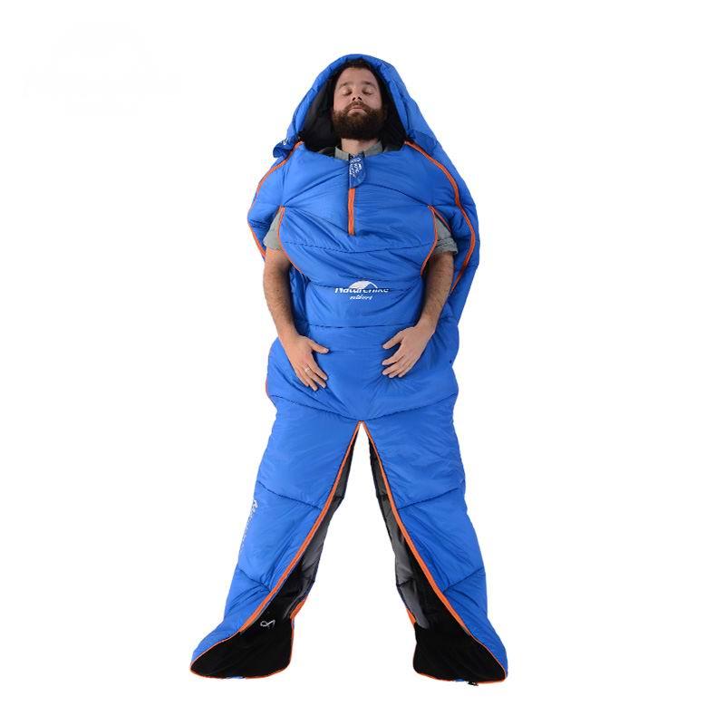 En plein air Conception de Forme Humaine Aduit Sac Momie Sac de Couchage En Coton Sacs De Couchage Unique Peut Épissage S'asseoir Marcher Pour Voyage Camping