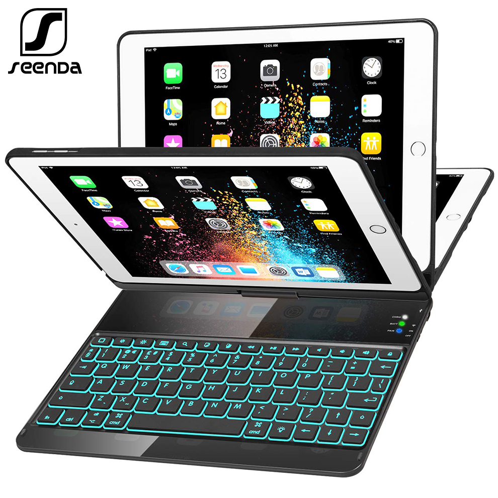 For IPad Pro 9.7 Wireless Bluetooth Keyboard Case For Tablet 360 Rotating Keyboard Case Cover For IPad Air 9.7 Auto Sleep Wake