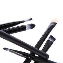 2016 6 unids negro profesional cosméticos componen cepillos sombra de ojos Eyeliner nariz herramientas Set 5W7X 7H5M 8LUZ