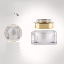 1pcs 30g square acrylic box cream bottle Cream box Pearlescent fruit plate Cream bottle Paste Sub-bottle wholesale BQ250