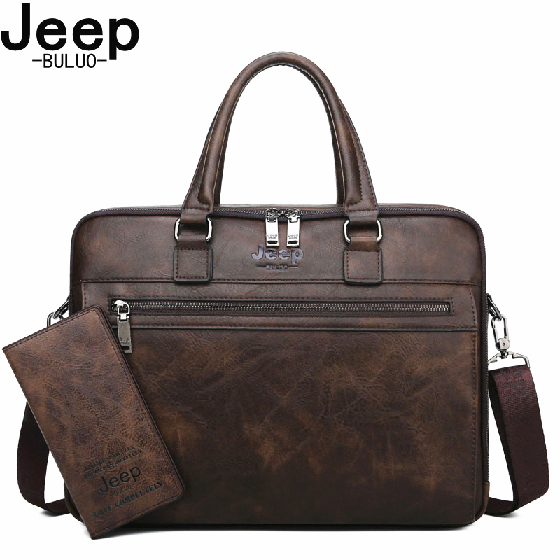 Shoulder-Travel-Bag Briefcase-Bags Laptop Jeep Buluo File Business 14inch Men For Man