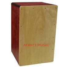 Afanti Music Basswood Natural Cajon Drum KHG 177