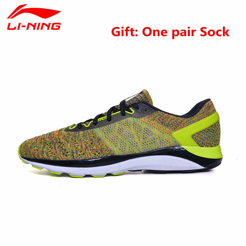 Li-Ning Super Light Running Shoes for Men Cushioning Breathable Summer Sneakers Athletic Sports Shoe L638 apple summer new arrival men s light mesh sports running shoes breathable fly knit leisure comfortable slip on sneakers ap9001