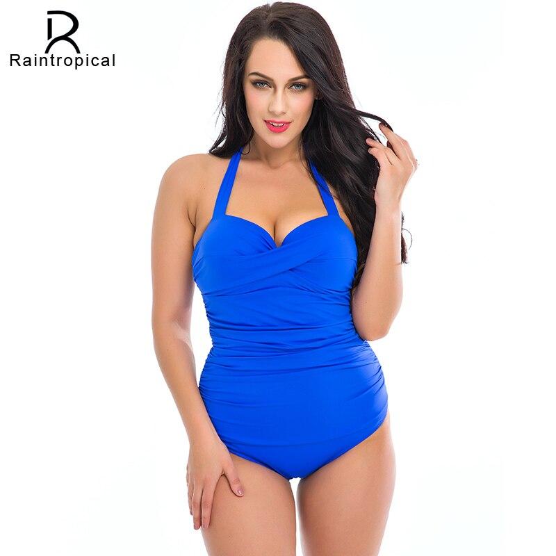 One Piece Swimsuit Plus Size Swimwear Women 2018 Summer Beach Wear