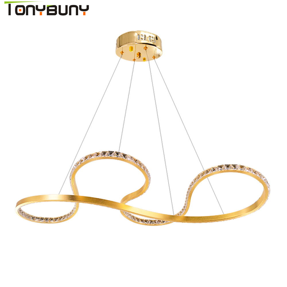 Hot Sell Modern LED Crystal Chandelier Lights Lamp For Living Room Cristal Chandeliers Lighting Pendant Hanging Ceiling Fixtures led crystal chandeliers lamp round ring hanging lights modern led crystal chandelier fixture for living room lobby ac110v 240v