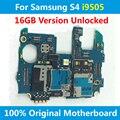 Europa versão motherboard original para samsung galaxy s4 i9505 16 gb 100% boa qualidade desbloqueado mainboad com chips de placa lógica