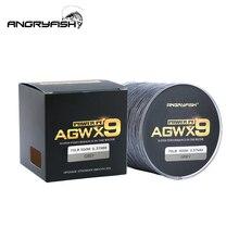 Angryfish 9 Strands Weaves 꼰 500M/547YD 낚시 라인 슈퍼 강한 PE 라인 15lb 70lb 꼰 낚시 스레드