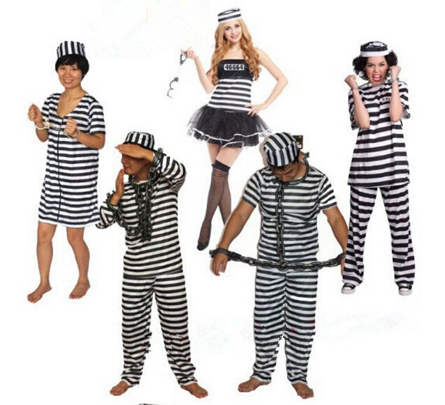 Brand New Prisoner Jail Man Convict Men Adult Costume