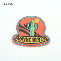 200pcs/lot Cartoon Cactus Clothing Embroidery Patch Fabric Sticker Iron On Sew On Patch Craft Sewing Repair Embroidered SC3062