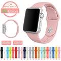 38 110 S/M Banda de Silicone Colorido Com Adaptador de Ligação Para apple watch série 1 série 2 para iwatch esportes fivela pulseira
