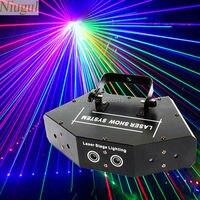 Мультиметр сканирования этапа лазерный луч RGB полный Цвет шесть глаз лазерный луч клуб DJ Дискотека Лазерный свет проектора DMX512 сканирован