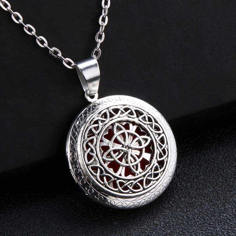 Creative Open Vintage Aroma Box Pendant Necklace Fashion Charm Aromatherapy Essential Oil Diffuser Aroma Locket Perfume Jewelry