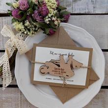 Персонализированные мотоциклетные деревенские свадебные пригласительные карты с деревом сохранить дату магниты прием гостей в доме невесты сувениры подарки