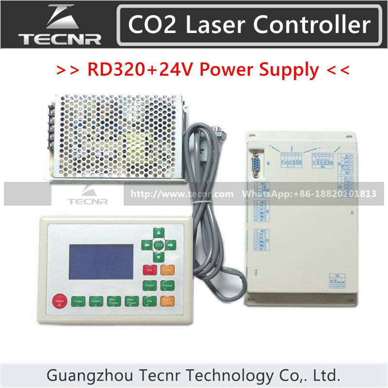 RD320 CO2 Laser Control System and Meanwell 24V 3.2A 75W Switch Power Supply RUIDA RDLC320 / RDLC320-ARD320 CO2 Laser Control System and Meanwell 24V 3.2A 75W Switch Power Supply RUIDA RDLC320 / RDLC320-A