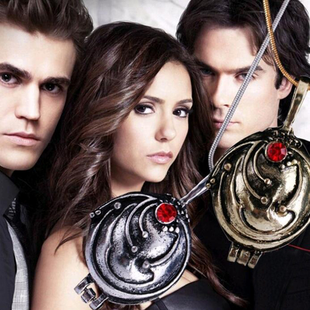 FAMSHIN Fashion Vintage Pendant Necklaces Women Vampire Diaries Elena Gilbert Necklace Verbena Necklace Openable Jewelry Gifts