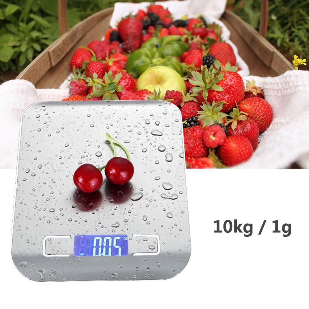 Кухонные весы 10 кг 1 г, пищевые диетические Почтовые весы, измерительный инструмент, тонкие цифровые электронные весы с ЖК-дисплеем-1