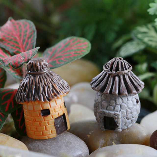 1pcs Vintage Artificial Pool Tower Miniature House Fairy Garden Home Decoration Mini Craft Micro Landscaping Decor 3