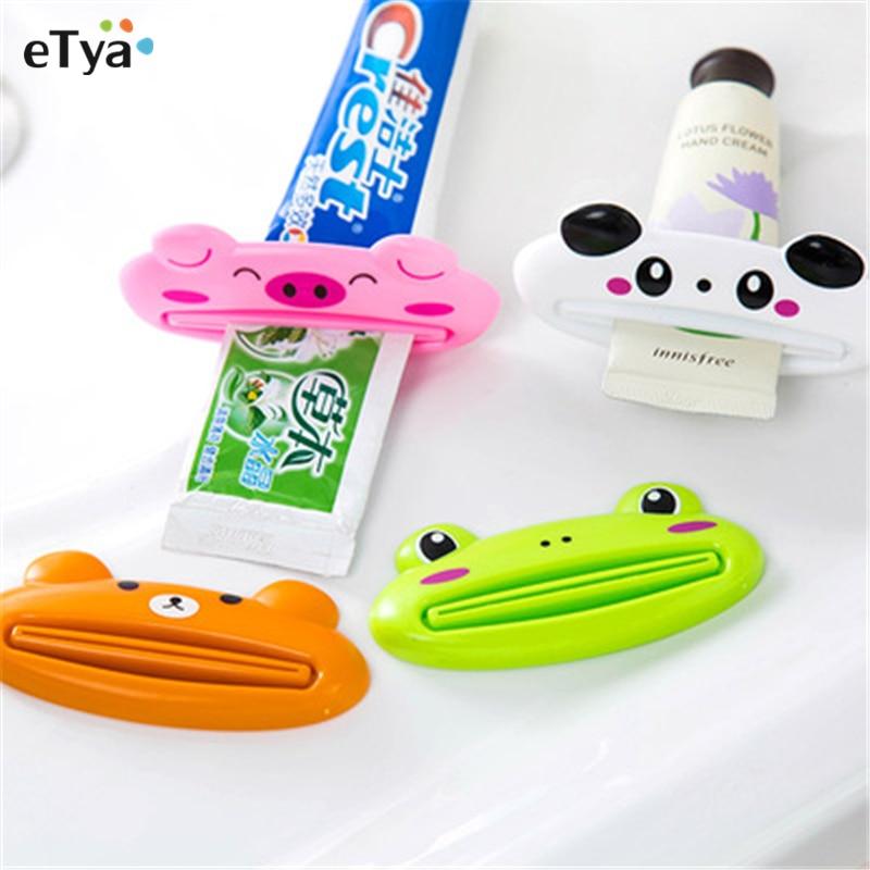 Larva Automatic Dispenser Toothpaste Squeezer Kids Bathroom Cute Yellow Red Type