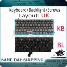 """Neue für Macbook Pro Retina 13 """"A1502 UK Englisch Tastatur mit Hintergrundbeleuchtung 2013 2014 2015 Jahr ME864 ME866 MGX72 MGX92 MF839 MF841"""