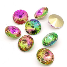 new mix ELEMENTS Crystal glass Rivoli loose Beads jewelry making 10mm12mm14mm16mm18mm