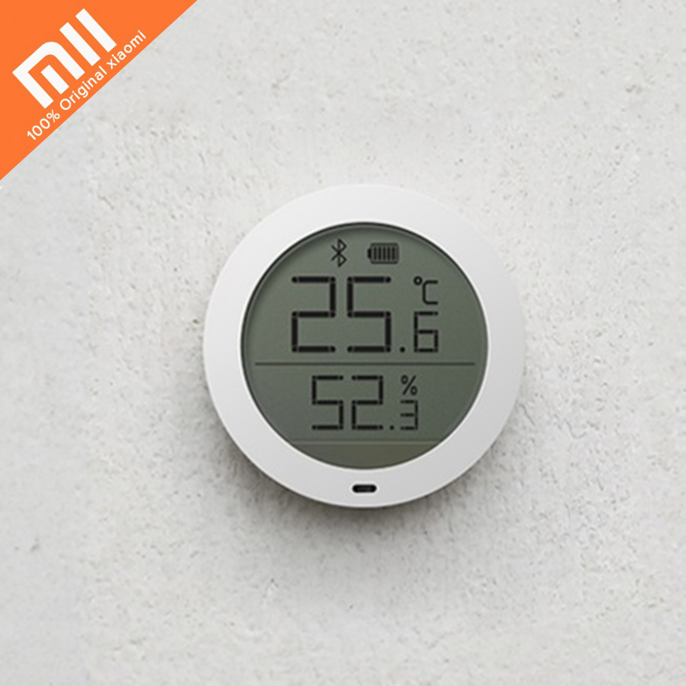 Xiaomi Mijia Led Digital Thermometer Display Thermostat Temperature Controller Humidity Meter Bluetooth mi Home App Control xiaomi mijia bluetooth temperature smart humidity sensor lcd screen digital thermometer moisture meter mi app
