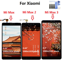 Xiaomi mi最大lcdディスプレイタッチスクリーンデジタイザxiaomi mi最大2液晶Max2最大3スクリーン交換黒、白