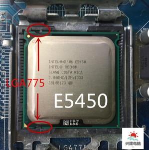 Image 1 - E5450 e5450 intel xeon slanq ou slbbm quad core 3.0ghz 12mb 1333mhz soquete 775 funciona placa mãe lga 775 sem adaptador de necessidade