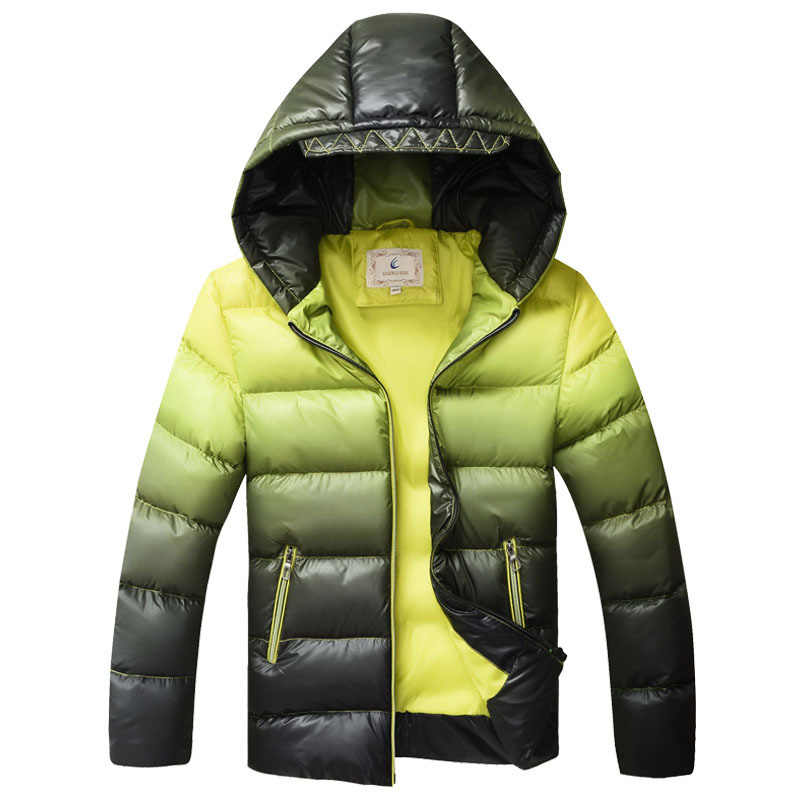 199860514 ... Kids Winter Jacket for Boys Down Jackets Coats Warm Thick Cotton Wadded  Jacket Gradient Color Big ...