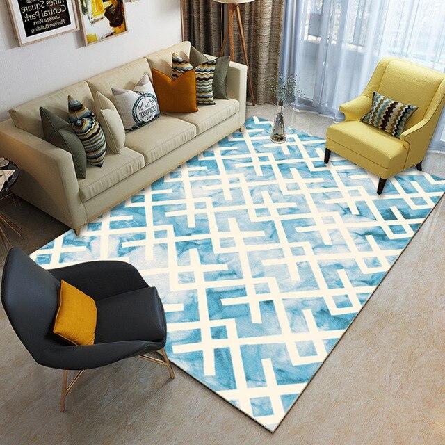 Geométrica 200x300 CM Tamanho Grande Tapetes Para Sala de estar Área Tapetes Para Quarto Sofa Tabela Nordic Casa Suave estudo tapete Capacho Chão