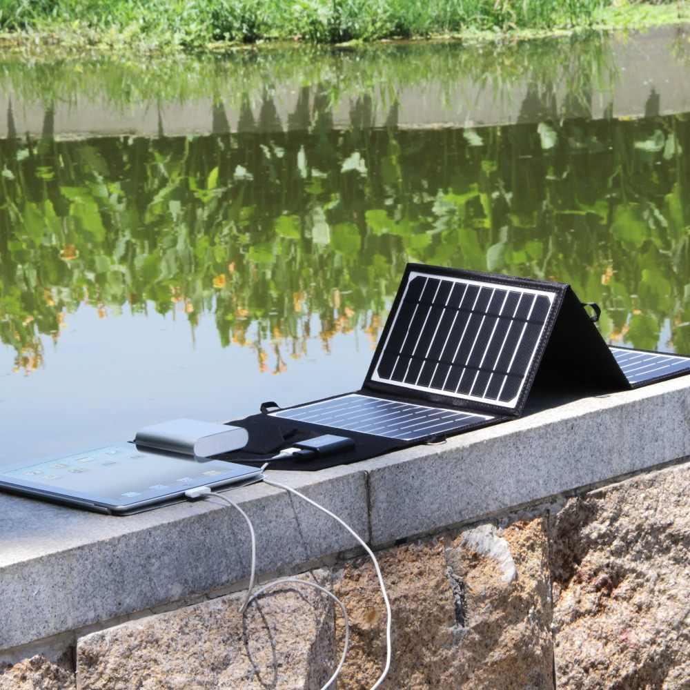 16 wát 5.5 v Xách Tay Gấp Panel Năng Lượng Mặt Trời Sạc Cắm Trại Năng Lượng Mặt Trời Ngân Hàng Điện Cho Điện Thoại Di Động MP4 Máy Ảnh USB Battery Charger bộ dụng cụ