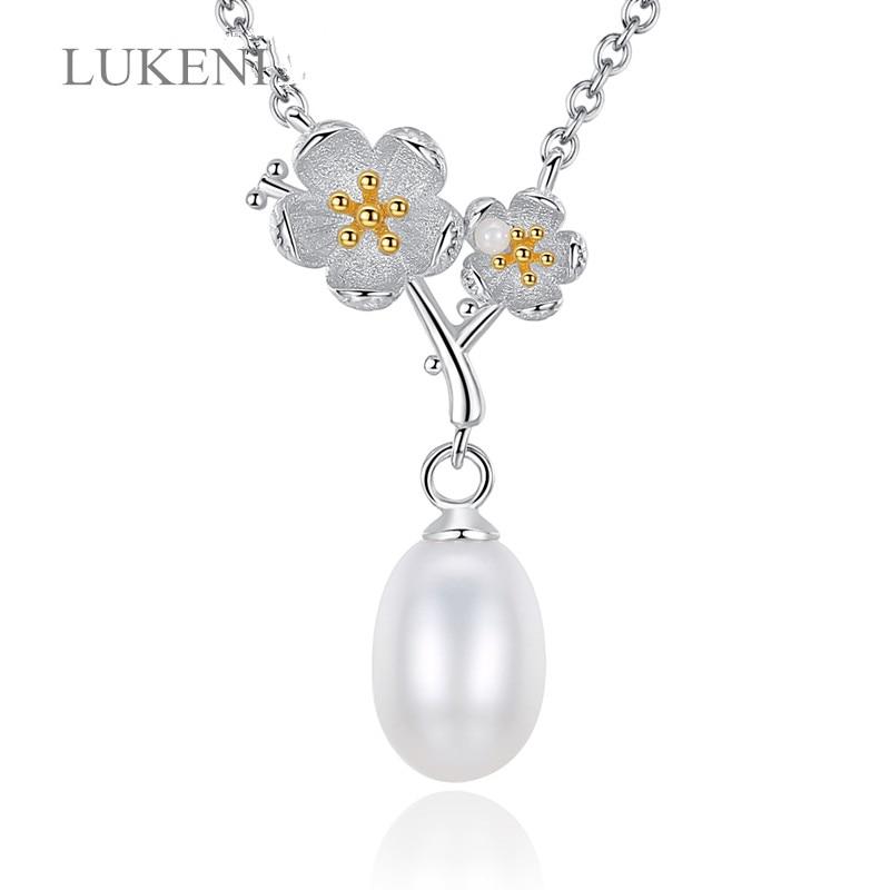 Schmuck & Zubehör Fenasy Perle Schmuck Neue 925 Sterling Silber Böhmischen Blume Blatt Anhänger Echte Natürliche Perle Halskette Für Frauen