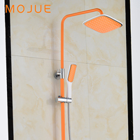 MOJUE New Arrival Rain Shower Multi Color Faucet Shower Tap Brass Bath Shower Faucet Set Bathtub