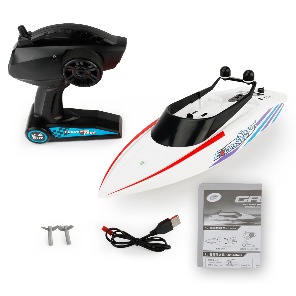 3323 2.4G Remote Control Boat Summer Water Toy Electric Racing RC  Speedboat 4 Channel Waterproof  Life Time 20 Minutes3323 2.4G Remote Control Boat Summer Water Toy Electric Racing RC  Speedboat 4 Channel Waterproof  Life Time 20 Minutes