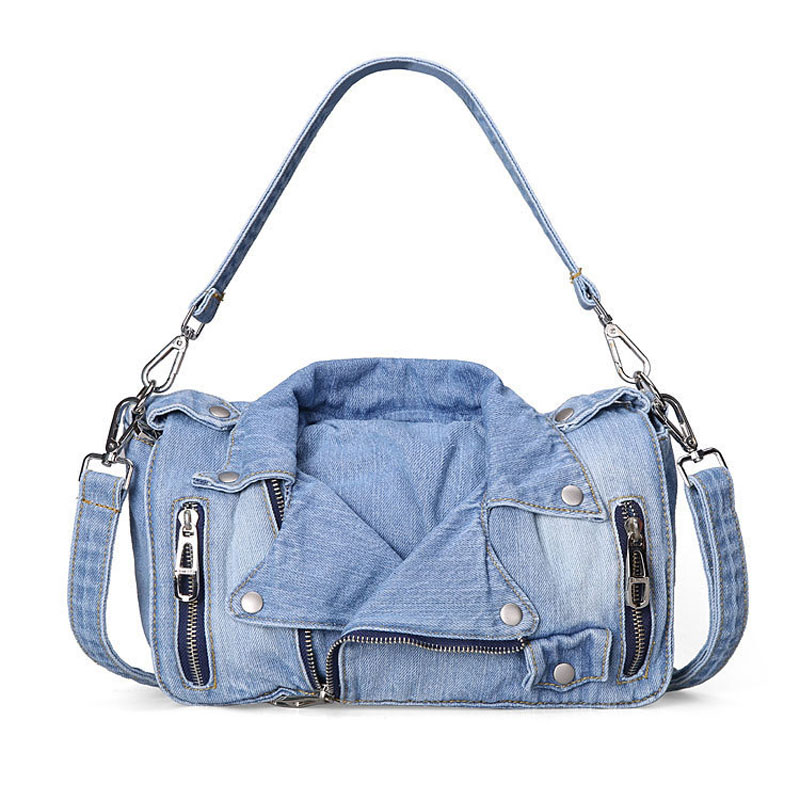 Luxury Handbags Women Bags Designer Woman Denim Messenger Bag Women's Jeans High Capacity Girls Sling Shoulder Bag luxury handbags women chain messenger bag lipstick lock designer woman black