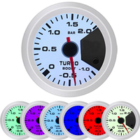 52mm Turbo Boost Gauge Refitted Automobile Silver Car Ring motor Racing Modified 7 Color Backlight Turbine Gauge Supercharger